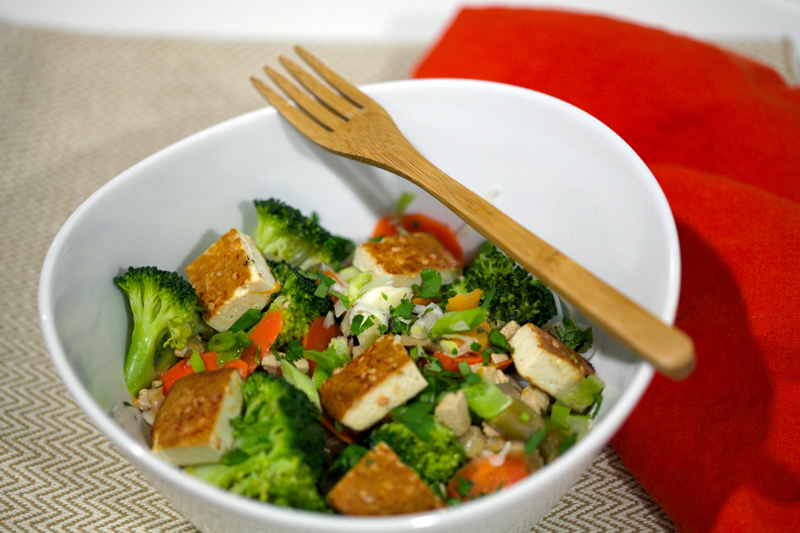 Bowl with Baked Tofu
