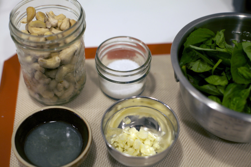 Herbed Cashew Cheese Mise en Place