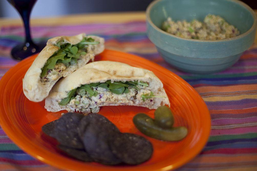 Mock Tuna Salad - Pita Bread Sandwich